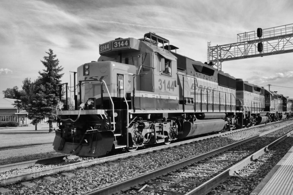 A - Prints Black and white printsMaker: Brandon Wanke  -- 29 points  Voted Acc.Judge's comments: Angle of the train gives a sense of motion; works well in B&W; the engine is sharp, but focus falls off farther backMaker's comments: