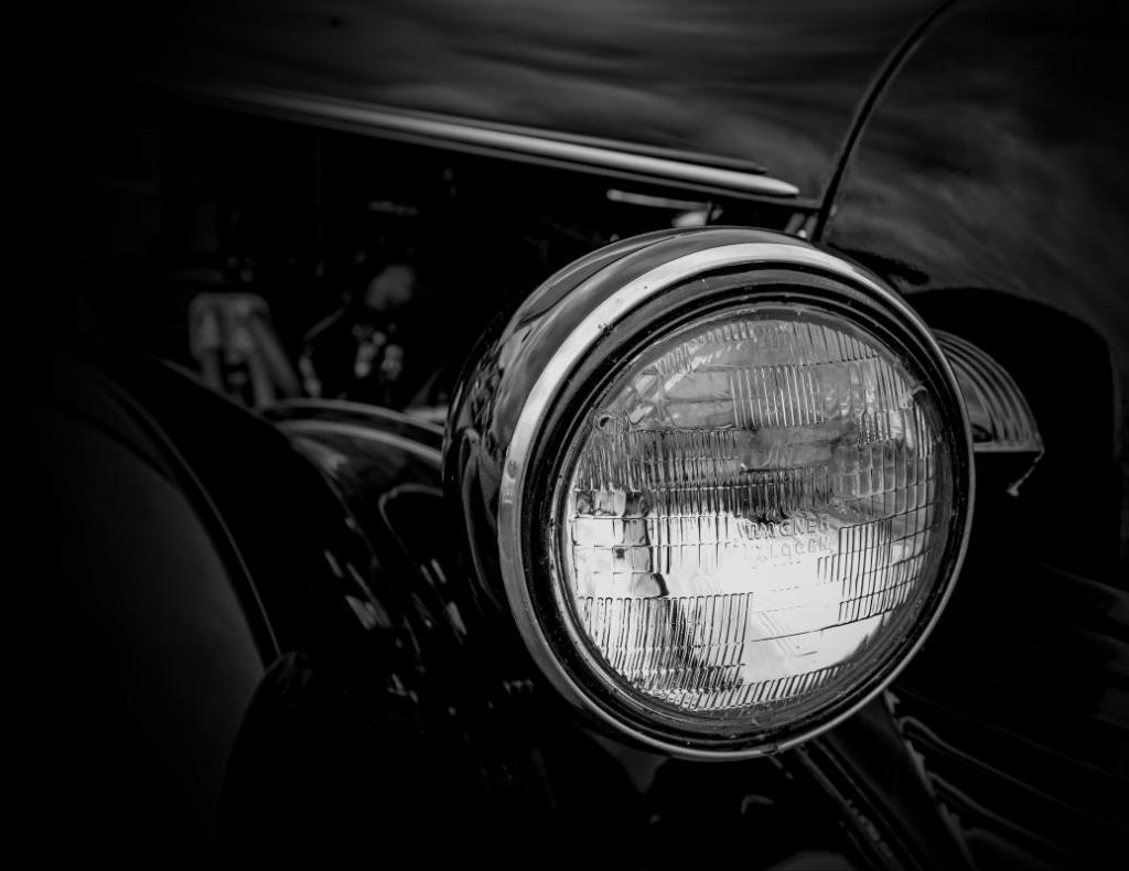 B - Prints Black and white printsMaker: John McCormack  -- 29 points  Hon. MentionJudge's comments: Sharp; good detail; the trim and headlight pop from the background; nice reflected light; might suggest a black, white or gray matMaker's comments: