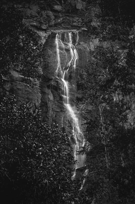 Maker: Austin Miller  -- 28 points      Judge's comments: The waterfall is nicely framed; nice ribbon effect to the water; the dark trees seem to over-power the waterfall; would like to also see a color version of this printMaker's comments: