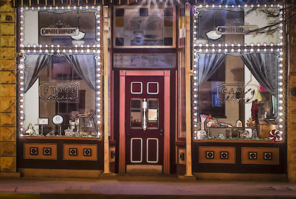 Maker: Brian Narveson  -- 27 points      Judge's comments: Nice image effect; the entire store front seems to be the subject, not just the doorMaker's comments: This is a night time exposure taken on Pearl Street in La Crosse.  Camera was mounted on a tripod. Camera was in Aperture Priority Av mode set to f/16.  ISO 200 resulted in a 6 second exposure.  Lens was an 18 mm Canon.  Post processing done in Lightroom and Photoshop CC.