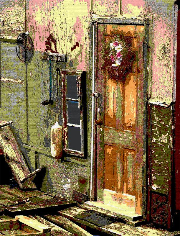 Maker: John Zoerb  -- 29 points  3rd PlaceJudge's comments: Nice colors; texture adds to the dilapidated look; diagonal perspective works well; color of the door draws viewer's attentionMaker's comments: